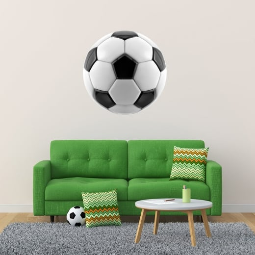 Wall Chimp Football Printed Wall Sticker