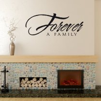 Forever A Family Wall Sticker Quote