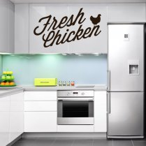 Fresh Chicken Wall Sticker Quote