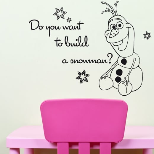 Wall Chimp Frozen Olaf Do You Want To Build A Snowman Wall - How do u put up a wall sticker