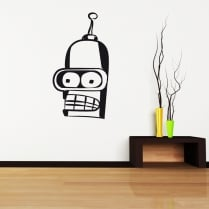 Futurama Bender Wall Sticker