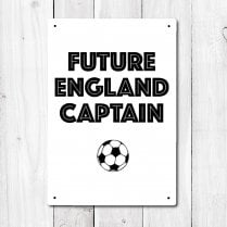 Future England Captain Football Metal Sign