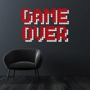Game Over Gaming Wall Sticker