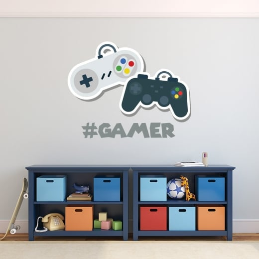Wall Chimp #Gamer Wall Sticker