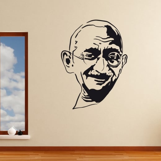 Wall Chimp Gandhi Silhouette Wall Sticker