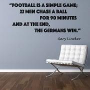 Gary Lineker Football Quote Wall Sticker