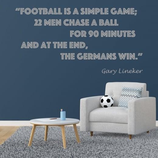 Wall Chimp Gary Lineker Football Quote Wall Sticker