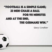Gary Lineker Football Quote Wall Sticker