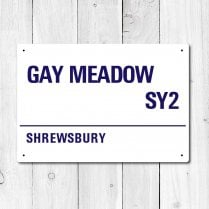 Gay Meadow, Shrewsbury Metal Sign