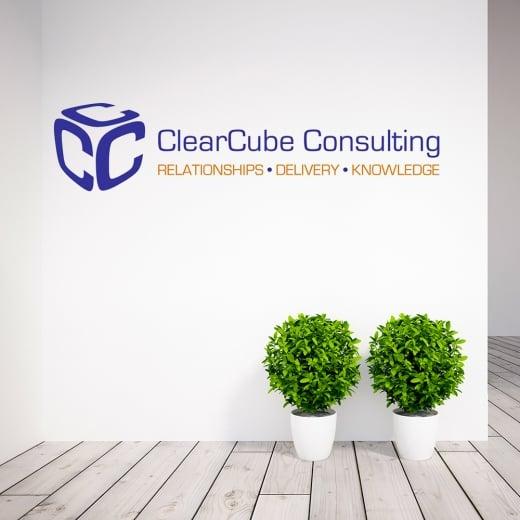 Wall Chimp Georgia Bertuello Clear Cube Consulting Wall Sticker WC686QT