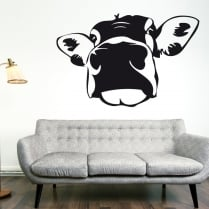 Giant Cow Head Wall Sticker