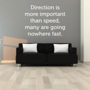 Going Nowhere Fast Motivational Wall Sticker Quote