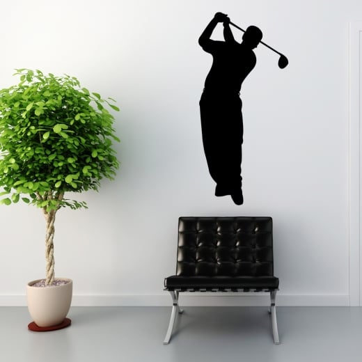 Wall Chimp Golfer Wall Sticker