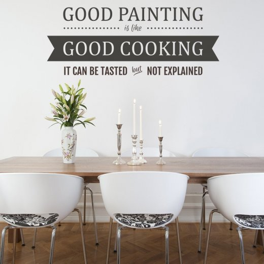 Wall Chimp Good Cooking Wall Sticker Quote