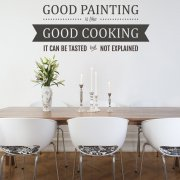 Good Cooking Wall Sticker Quote