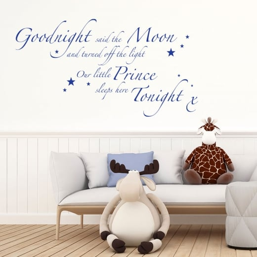 Wall Chimp Goodnight Said The Moon Wall Sticker