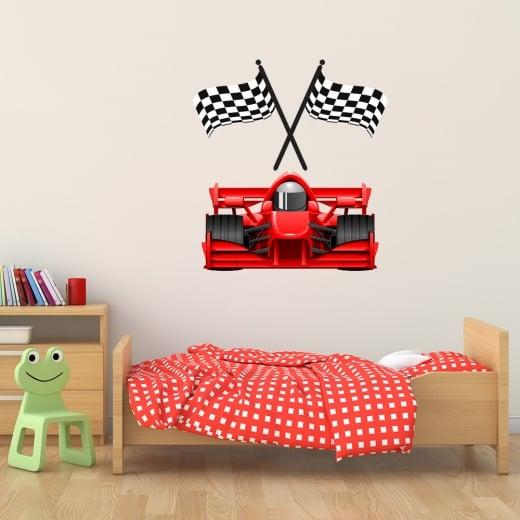 Wall Chimp Grand Prix Racing Car Printed Wall Sticker