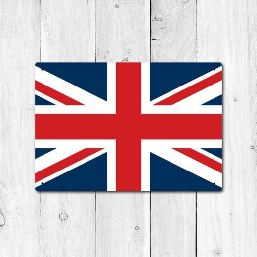 Wall Chimp Great Britain Flag Sign