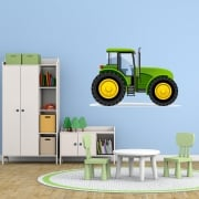 Green Tractor Printed Wall Sticker