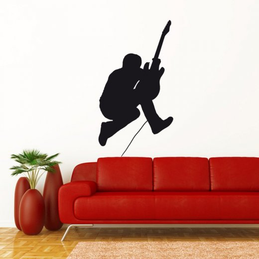 Wall Chimp Guitar Solo Wall Sticker