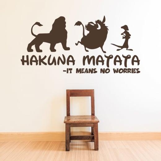 Wall Chimp Hakuna Matata - It Means No Worries Wall Sticker