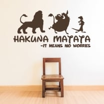 Hakuna Matata - It Means No Worries Wall Sticker