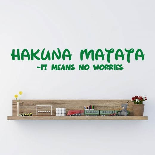 Wall Chimp Hakuna Matata - It Means No Worries Wall Sticker Quote