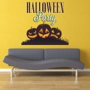 Halloween Party Printed Wall Stickers