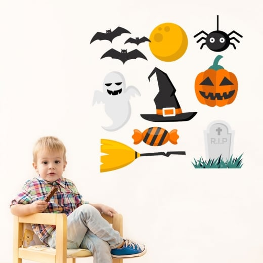 Wall Chimp Halloween Printed Sticker Pack