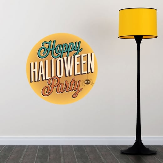 Wall Chimp Happy Halloween Party Printed Wall Sticker