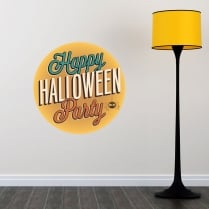 Happy Halloween Party Printed Wall Sticker