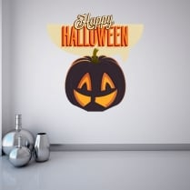 Happy Halloween Printed Wall Sticker