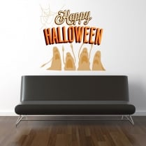 Happy Halloween Printed Wall Stickers
