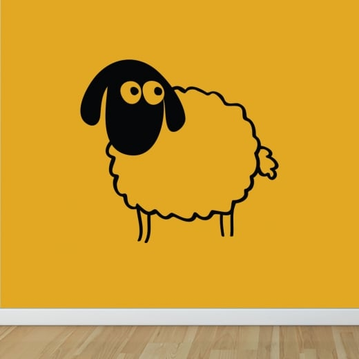 Wall Chimp Happy Sheep Wall Sticker