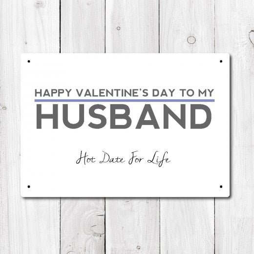Wall Chimp Happy Valentine's To My Husband Metal Sign