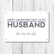 Happy Valentine's To My Husband Metal Sign