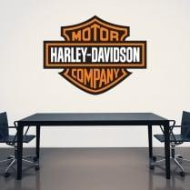 Harley-Davidson Printed Wall Sticker Badge