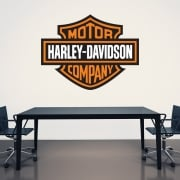 Harley-Davidson Printed Wall Sticker Badge