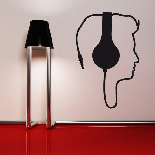Wall Chimp Headphone Music Wall Sticker