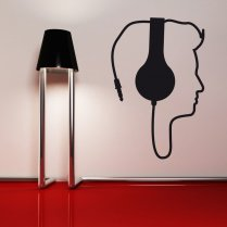Headphone Music Wall Sticker