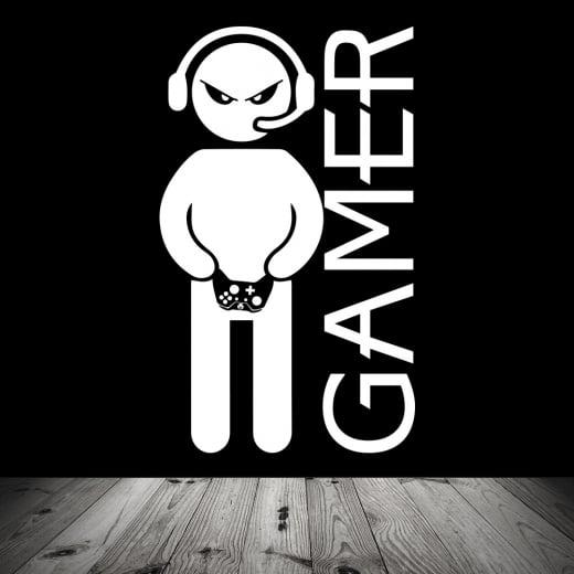 Wall Chimp Headset Gamer Wall Sticker