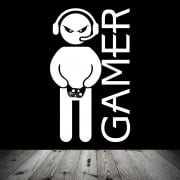 Headset Gamer Wall Sticker