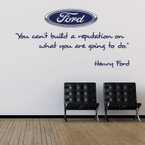Henry Ford Motivational Wall Sticker Quote