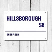 Hillsborough, Sheffield Metal Sign