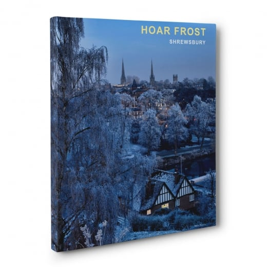 Wall Chimp Hoar Frost - Shrewsbury Canvas Print