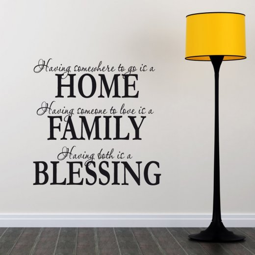 Wall Chimp Home Family Blessing Wall Sticker Quote