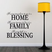 Home Family Blessing Wall Sticker Quote
