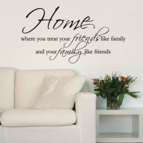 Home Friends & Family Wall Sticker Quote