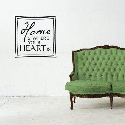 Wall Chimp Home Is Where Your Heart Is Wall Sticker Quote