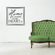 Home Is Where Your Heart Is Wall Sticker Quote